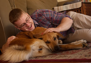 Marine Reunited with Dog He adopted in Afghanistan